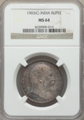 India:British India, India: British India. Edward VII 3-Piece Lot of Certified Rupees NGC, ... (Total: 3 coins)