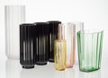 Glass, George Sakier (American, 1897-1988). Eight Vases, circa 1930, Fostoria Glass Company. Glass. 12-3/4 x 4-3/4 inches (32.4... (Total: 8 Items)