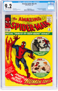 The Amazing Spider-Man #8 (Marvel, 1964) CGC NM- 9.2 Off-white to white pages