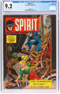 The Spirit #1 (Fiction House, 1952) CGC NM- 9.2 Off-white to white pages