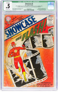 Silver Age (1956-1969):Superhero, Showcase #4 The Flash - Married Pages, Incomplete (DC, 1956) CGCQualified PR 0.5 Off-white pages....