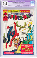 Silver Age (1956-1969):Superhero, The Amazing Spider-Man Annual #1 (Marvel, 1964) CGC Apparent NM 9.4Slight (A-1) White pages....