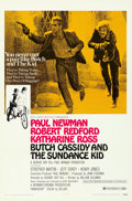 "Movie Posters:Western, Butch Cassidy and the Sundance Kid (20th Century Fox, 1969). Folded, Very Fine. One Sheet (27"" X 41"") Style B.. ..."