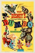 "Movie Posters:Animation, Dumbo (RKO, 1941). Folded, Very Fine. One Sheet (27"" X 41"") StyleA.. ..."