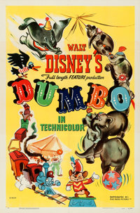 "Dumbo (RKO, 1941). Folded, Very Fine. One Sheet (27"" X 41"") Style A"