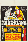 "Movie Posters:Exploitation, Marihuana (Roadshow Attractions, 1936). Folded, Fine/Very Fine. One Sheet (27.75"" X 41"").. ..."