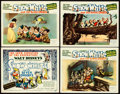 "Movie Posters:Animation, Snow White and the Seven Dwarfs (RKO, 1937). Very Fine-. TitleLobby Card & Lobby Cards (3) (11"" X 14"") Gustaf TenggrenArtw... (Total: 4 Items)"