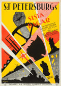 """Movie Posters:Drama, The End of St. Petersberg (A.-B. Fribergs Filmbyra, 1928). Folded,Very Fine. Swedish One Sheet (28"""" X 39.5"""") Eric Rohman Ar..."""
