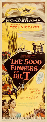 """The 5000 Fingers of Dr. T (Columbia, 1953). Folded, Very Fine-. Insert (14"""" X 36"""") & Lobby Card Set of 8 (..."""