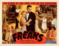 Movie Posters:Horror, Freaks (Excelsior, R-1949). Folded, Fine/Very Fine.