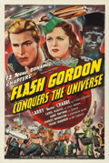 """Movie Posters:Serial, Flash Gordon Conquers the Universe (Universal, 1940). Very Fine- onLinen. Stock One Sheet (27"""" X 41"""").. ..."""