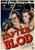 """Movie Posters:Adventure, Captain Blood (Warner Brothers/First National, 1935). Rolled, Very Fine-. Swedish One Sheet (27.5"""" X 39.5"""").. ..."""