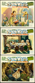 """Movie Posters:Animation, Snow White and the Seven Dwarfs (RKO, 1937). Fine/Very Fine. LobbyCards (3) (11"""" X 14"""") Gustaf Tenggren Artwork.. ... (Total: 3Items)"""