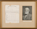 Autographs:Military Figures, Robert E. Lee: Document Signed [DS] Dated 1867....