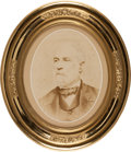 Photography:Studio Portraits, Robert E. Lee: Oval Albumen Photograph by Rees....