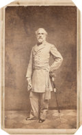 "Autographs:Military Figures, Robert E. Lee: Vannerson ""Blockade Portrait"" Carte-de-Visite [CDV] Signed by Lee on Verso...."