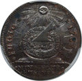 Colonials, 1787 CENT Fugio Cent, STATES UNITED, 4 Cinquefoils, Pointed Rays, MS64 Brown PCGS. N. 11-X, W-6790, R.4....