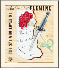"The Spy Who Loved Me by Ian Fleming (Jonathan Cape, 1962). Very Fine. Matted Autographed Partial Book Cover (7.5"" X..."
