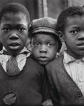 Photographs:Gelatin Silver, Ruth Bernhard (American, 1905-2006). Children-Harlem, New York, 1932. Gelatin silver, printed later. 13-1/8 x 10-1/2 inc...