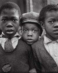 Ruth Bernhard (American, 1905-2006) Children-Harlem, New York, 1932 Gelatin silver, printed later