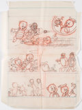 """Original Comic Art:Miscellaneous, Lee Holley Porky Pig #90 Complete 7-Page Story """"A Visit From Erg"""" Preliminary Original Art (Gold Key, 1979). . ... (Total: 7 Original Art)"""