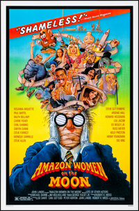 """Amazon Women on the Moon & Other Lot (Universal, 1987). Rolled & Folded, Very Fine. One Sheets (2) (27"""" X 4..."""