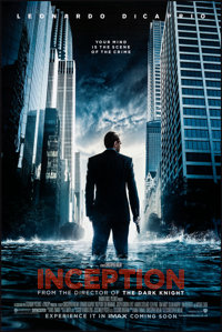 "Inception (Warner Brothers, 2010). Rolled, Very Fine+. One Sheet (27"" X 40""). Science Fiction"