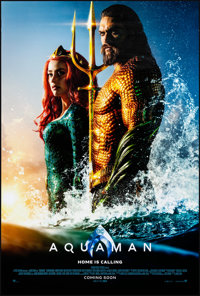 "Aquaman (Warner Brothers, 2018). Rolled, Very Fine. One Sheet (27"" X 40"") DS Advance. Action"