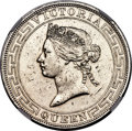 Hong Kong :British Colony, Hong Kong : British Colony. Victoria Dollar 1867 UNC Details (Cleaned) NGC,...