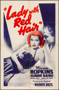 """Movie Posters:Drama, The Lady with Red Hair (Warner Brothers, 1940). Folded, Fine+. OneSheet (27"""" X 41""""). Drama.. ..."""