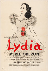 "Lydia & Other Lot (United Artists, 1941). Fine/Very Fine on Linen. One Sheets (2) (27.25"" X 41"" &a..."