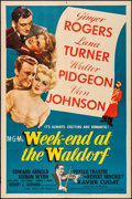 "Movie Posters:Comedy, Week-End at the Waldorf (MGM, 1945). Folded, Fine/Very Fine. OneSheet (27"" X 41""). Comedy.. ..."