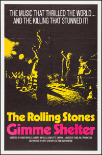 "Gimme Shelter (20th Century Fox, 1970). Folded, Very Fine/Near Mint. One Sheet (27"" X 41"") Yellow Style. Rock..."