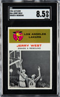 Basketball Cards:Singles (Pre-1970), 1961 Fleer Jerry West In Action #66 SGC NM-MT+ 8.5....