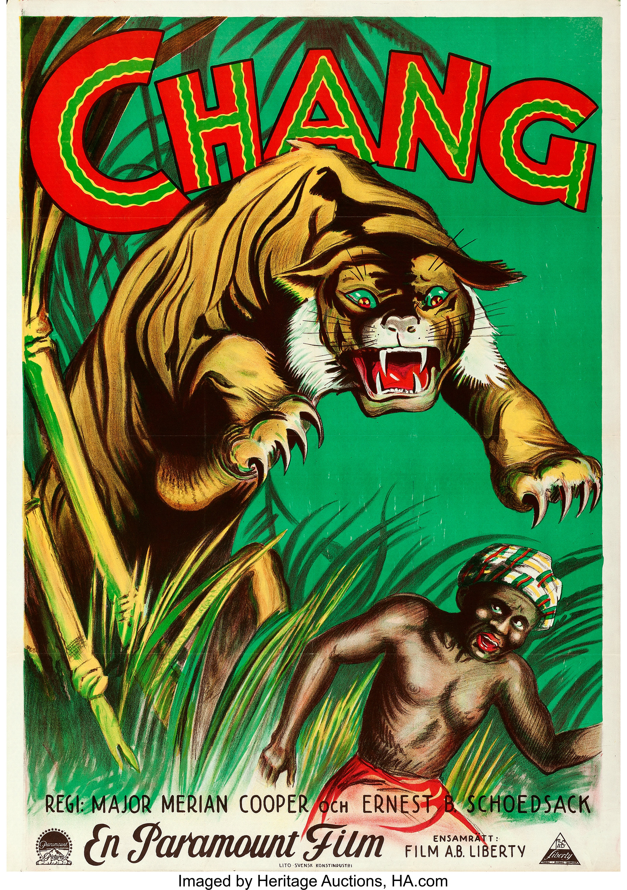 Chang: A Drama of the Wilderness (Paramount, 1927). Folded, Very ...