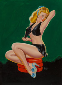 Peter Driben (American, 1902-1968) Show Girl, Beauty Parade magazine cover, March 1946 Oil on board<
