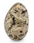 Lapidary Art:Eggs and Spheres, Pyrite Egg. Peru. 4.06 x 2.55 inches (10.30 x 6.48 cm). ...