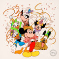 "Animation Art:Seriograph, ""Party Time"" Mickey Mouse and Friends Limited Edition Sericel (Walt Disney, 1994)...."