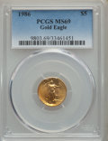 Modern Bullion Coins, 1986 $5 Tenth-Ounce Gold Eagle MS69 PCGS. PCGS Population: (2799/72). NGC Census: (13848/1106). MS69. ...