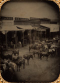 Western Expansion:Goldrush, California Gold Rush: Weaverville Half-Plate Ambrotype. ...