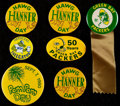 Football Collectibles:Others, Green Bay Packers Button/Pin Lot of 7....