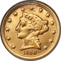 1856-D $2 1/2 -- Plugged, Improperly Cleaned -- NCS. Fine Details. Variety 20-N....(PCGS# 7779)