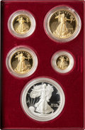 1995-W $1 Uncertified Five-Piece 1995-W 10th Anniversary Silver Eagle and Gold Proof Set
