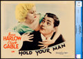 Movie Posters:Drama, Hold Your Man (MGM, 1933). Near Mint-. CGC Graded ...