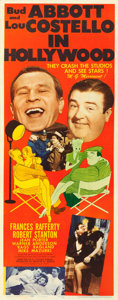 """Movie Posters:Comedy, Abbott and Costello in Hollywood (MGM, 1945). Fine/Very Fine onPaper. Insert (14"""" X 36"""") Al Hirschfeld Artwork.. ..."""