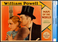 "Movie Posters:Romance, Man of the World (Paramount, 1931). Very Fine. CGC Graded Lobby Card (11"" X 14"").. ..."