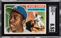 Baseball Cards:Singles (1950-1959), 1956 Topps Hank Aaron #31 SGC NM/MT+ 8.5 - Only One Higher....