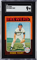 Baseball Cards:Singles (1970-Now), 1975 Topps Robin Yount #223 SGC Mint 9....
