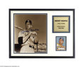 Autographs:Photos, Mickey Mantle Signed Photograph Display....