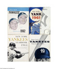 Baseball Collectibles:Others, 1961-64 New York Yankees Yearbook Run....
